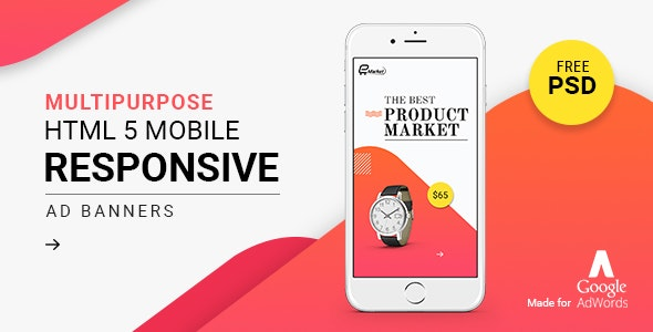 GWD   Responsive Mobile Ad Banner 02 - CodeCanyon Item for Sale