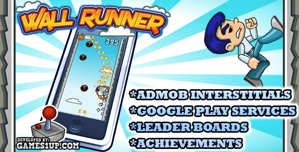 Wall Runner game +Admob +Leaderboard +Achievements