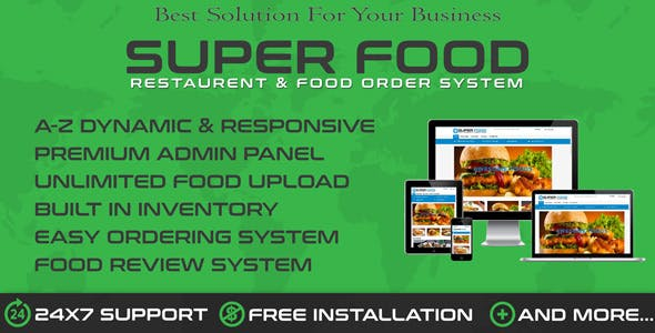 Superfood - Restaurants & Online Food Order System