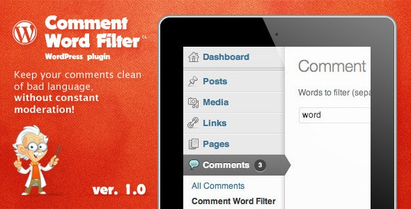 Comment Word Filter - CodeCanyon Item for Sale