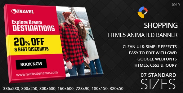Travel - HTML5 Ad Banners - CodeCanyon Item for Sale
