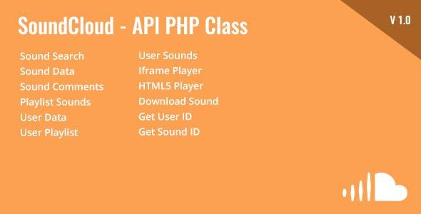 SoundCloud - API PHP Class