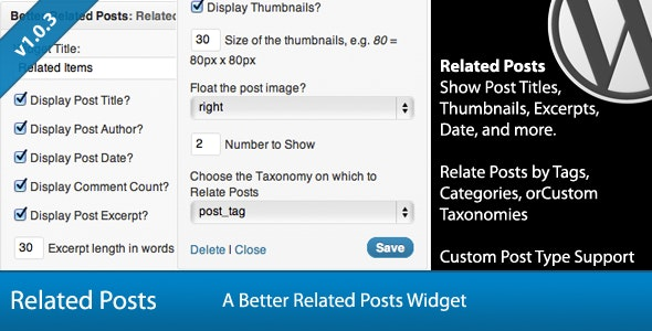 Better Related Posts Widget - CodeCanyon Item for Sale