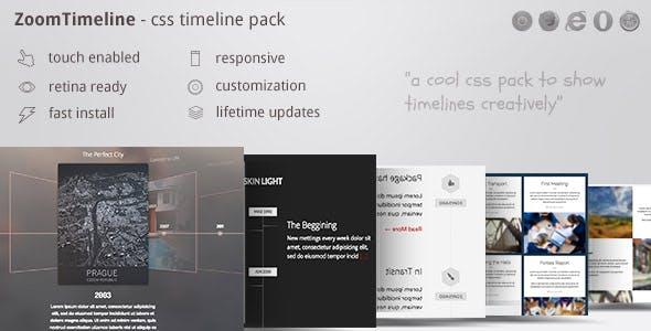 ZoomTimeline - CSS Timeline Pack