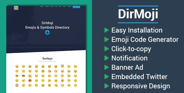 DirMoji - Emojis & Symbols Directory by CodingLyft | CodeCanyon