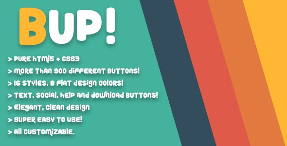 BUP! - Animated Shortcode CSS Buttons - CodeCanyon Item for Sale