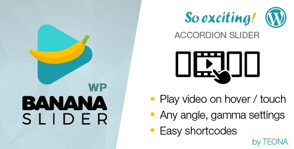 BananaSlider WP Video Slider with accordion effect