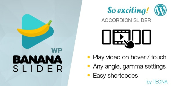 BananaSlider WP Video Slider with accordion effect - CodeCanyon Item for Sale