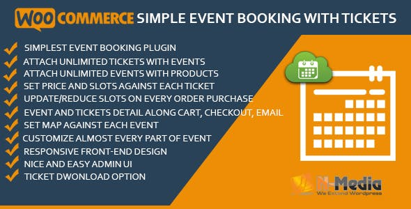 WooCommerce Simple Event Booking with Tickets