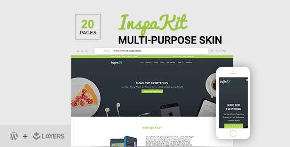 InspaKit - Multi-Purpose LayersWP Style Kit - CodeCanyon Item for Sale