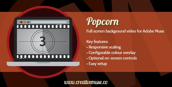 Popcorn Widget for Adobe Muse