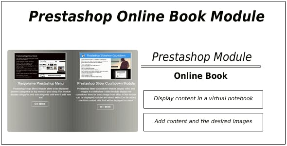 Prestashop Online Book Catalog Module