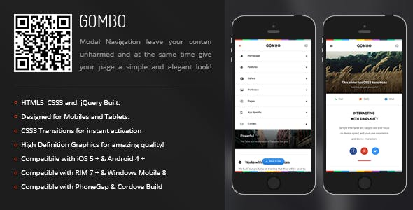 Gombo | Creative Navigation for Mobile & Tablets