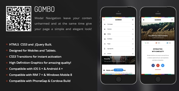 Gombo | Creative Navigation for Mobile & Tablets - CodeCanyon Item for Sale