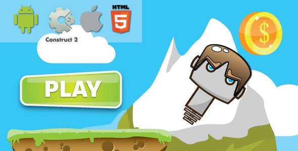 Extreme jump - HTML5 Android (CAPX)  - CodeCanyon Item for Sale