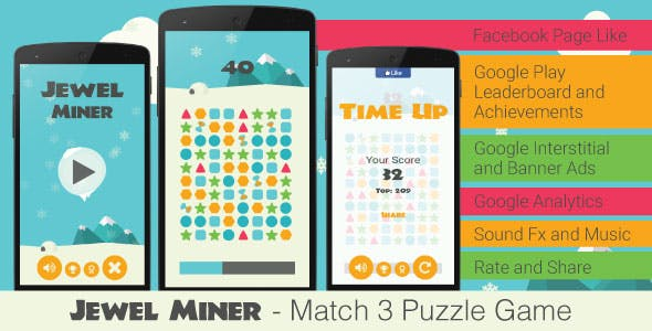 Jewel Miner - Match 3 Puzzle Game