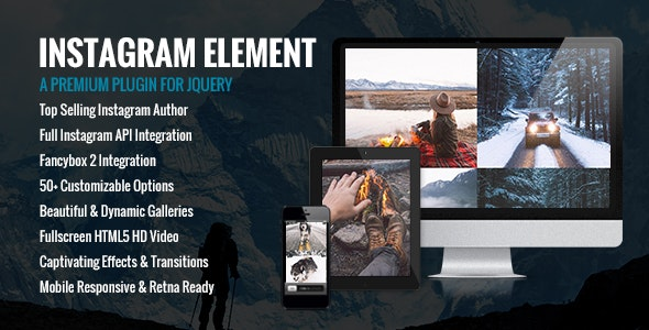 Instagram Element - Instagram Plugin for jQuery by