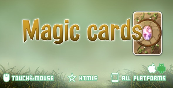 Magic cards-html5 mobile game(capx) - CodeCanyon Item for Sale