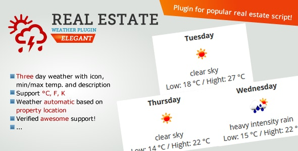 Real Estate Weather Widget - CodeCanyon Item for Sale