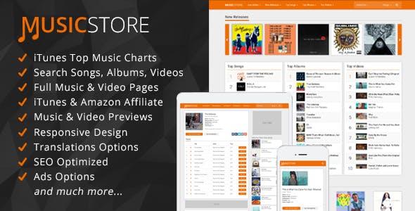 MusicStore - Music Itunes Affiliate Script