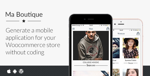 Ma Boutique - Full Ionic Mobile App for Woocommerce - CodeCanyon Item for Sale