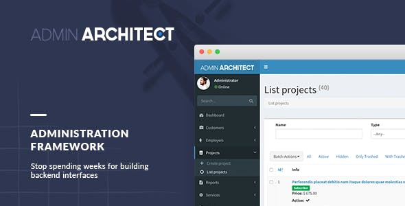 Admin Architect - Administration Framework for Laravel