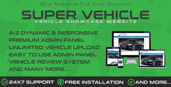Auto Dealership & Vehicle Showroom WebSys