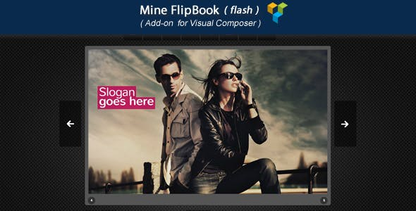 Visual Composer Add-on - Mine FlipBook(flash)