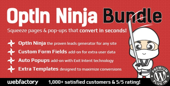 OptIn Ninja Bundle - Powerful Lead Generation System - CodeCanyon Item for Sale