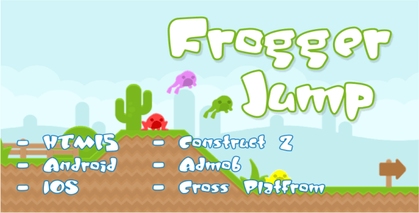 Frogger Jump - HTML5 Platformer Game + Admob