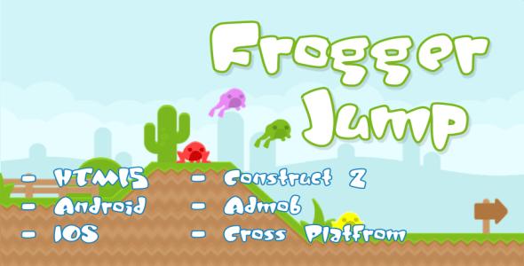 Frogger Jump - HTML5 Platformer Game + Admob - CodeCanyon Item for Sale