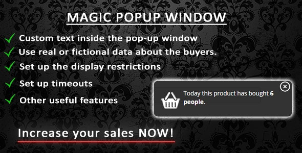 Magic popup window - CodeCanyon Item for Sale
