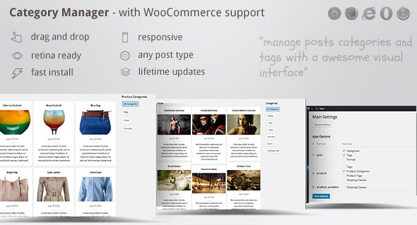 Category Manager - with Drag, Drop and WooCommerce - CodeCanyon Item for Sale