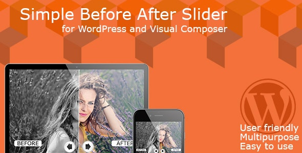 Simple Before After Slider for WordPress and Visual Composer - CodeCanyon Item for Sale