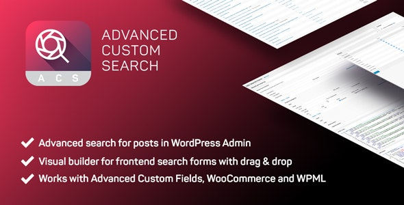 Advanced Custom Search PRO by vardumpsrl | CodeCanyon