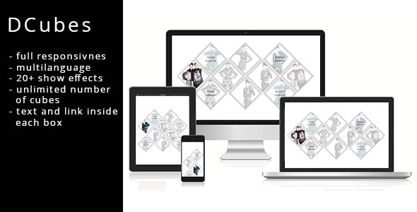 DCubes - Responsive Homepage Cubes Grid - CodeCanyon Item for Sale