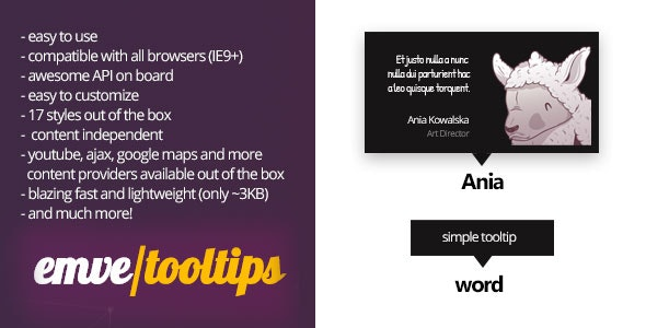 Tooltips and Dropdown Navs - CodeCanyon Item for Sale