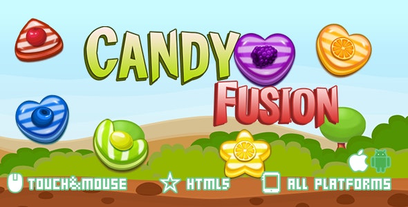 CandyFusion-html5 mobile game(capx) - CodeCanyon Item for Sale