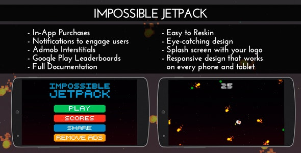 Impossible Jetpack - Admob + IAP + Leaderboards - CodeCanyon Item for Sale