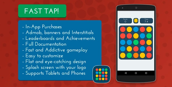 Fast Tap! - Admob + Leaderboards + IAP - CodeCanyon Item for Sale