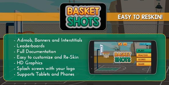 Basket Shots - HD Basketball Game Template