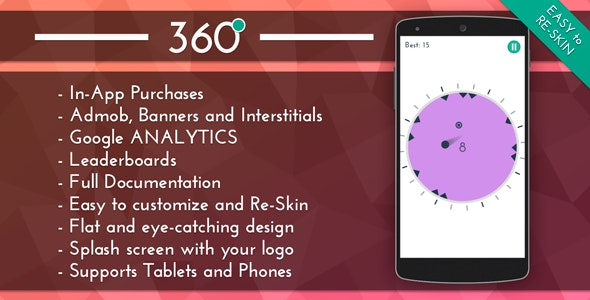 360 - HD Addictive Game Template - CodeCanyon Item for Sale