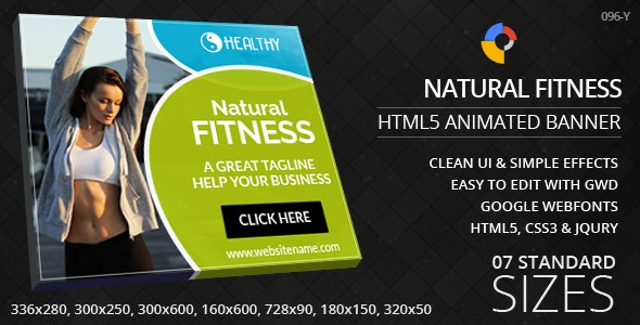 Fitness Guide - HTML5 ad banners - CodeCanyon Item for Sale