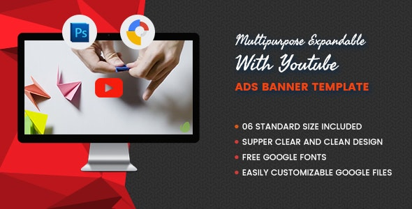 Multi Purpose Expandable With Youtube V1- Banner HTML5 GWD - CodeCanyon Item for Sale