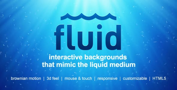 Fluid | Interactive Animated Backgrounds