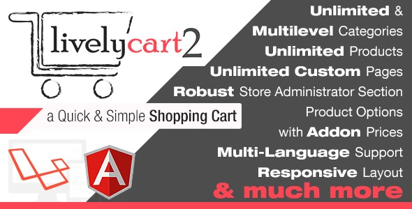 LivelyCart 2 - a Quick and Simple JavaScript PHP Shopping