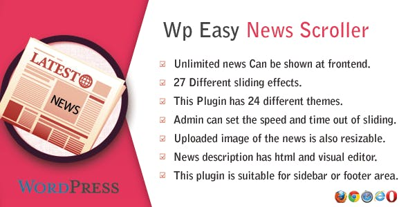 WP Easy News Scroller - CodeCanyon Item for Sale