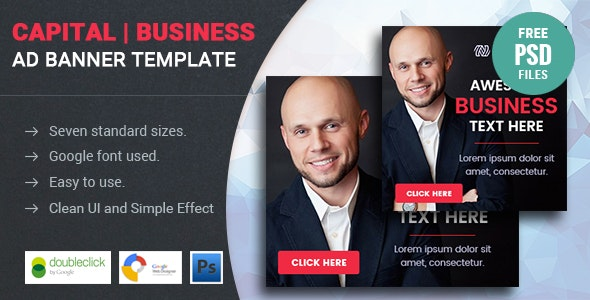 Capital | Business HTML 5 Animated Google Banner - CodeCanyon Item for Sale