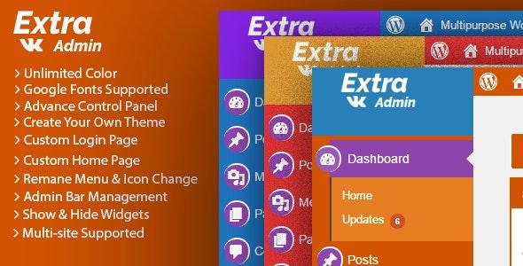 Extra Admin Theme Wordpress - CodeCanyon Item for Sale