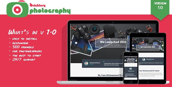 Famous Photographers CMS for best photography websites by brightery